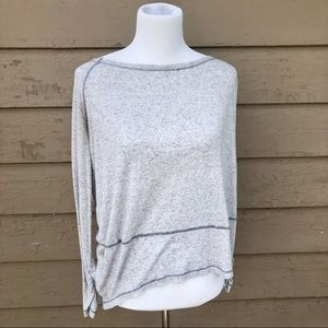 Free People long sleeve scoop neck top